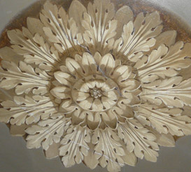 Painted Ceiling Rose, Boconnoc